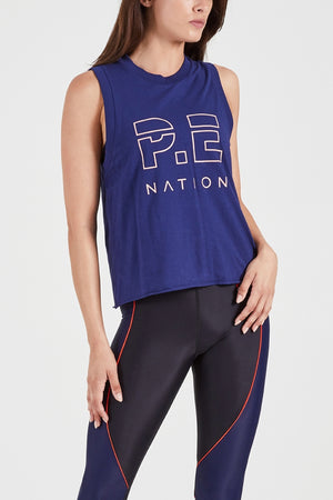 P.E Nation - Throw In The Towel Tank - Navy