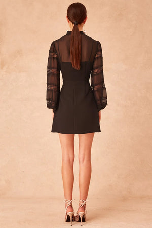 Keepsake - Tranquil Long Sleeve Dress - Black