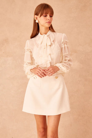 Keepsake - Tranquil Long Sleeve Dress - Creme