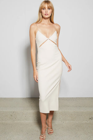Bec & Bridge - Ulla Cut Out Midi Dress - vanilla bean