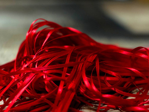 Pile of Red Ribbon made in the USA
