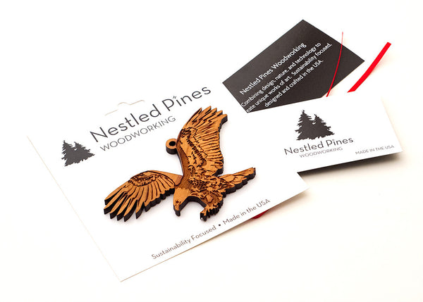 Peggable Card Packaging for Wood Ornaments from Nestled Pines Woodworking