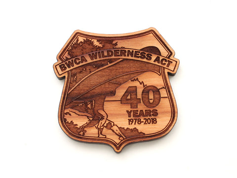 Superior National Forest 40 Year Portage Badge Magnet