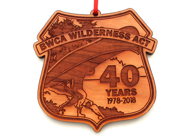 Superior National Forest 40 Year Portage Badge Ornament