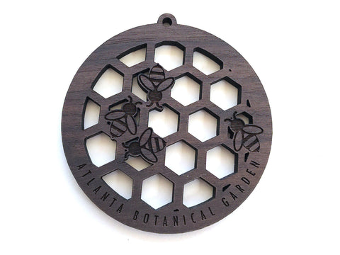 Honeycomb with Bees Circle Ornament