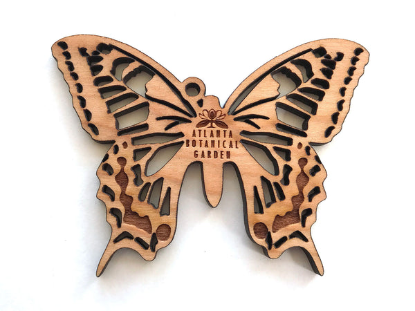 Swallowtail Butterfly Ornament with Logo Name Drop