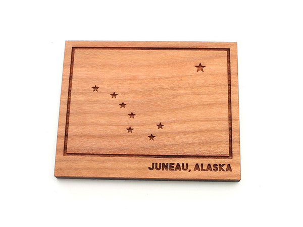 Wings Airways Alaska State Flag Magnet