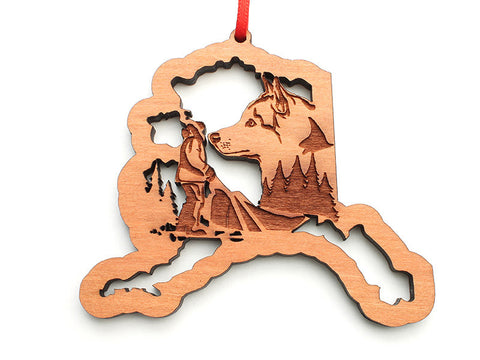 Alaska State Dog Sled Ornament - Nestled Pines