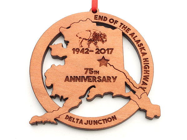 Smiling Moose Alaska Ornament Star 75th Anniversary Ornament