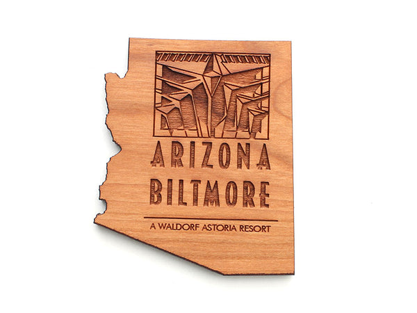 KSL Resorts Arizona Biltmore State Cut Out Magnet