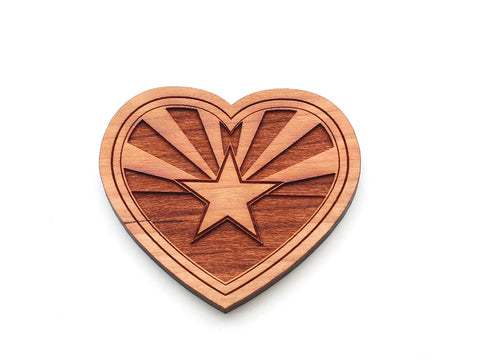 Arizona State Flag Heart Magnet