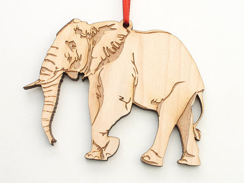African Elephant Ornament - Nestled Pines