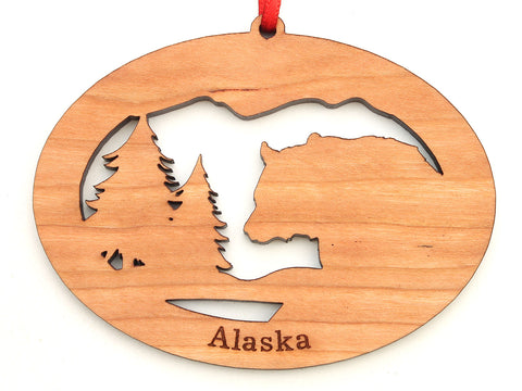 Alaska Black Bear Northwoods Ornament