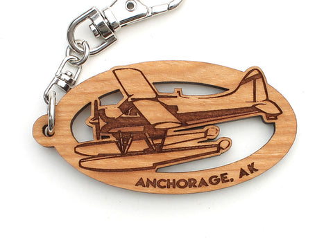 Anchorage Alaska Float Plane Key Chain