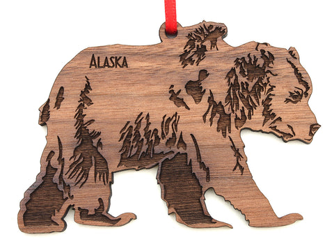 Alaska Grizzly Bear Ornament