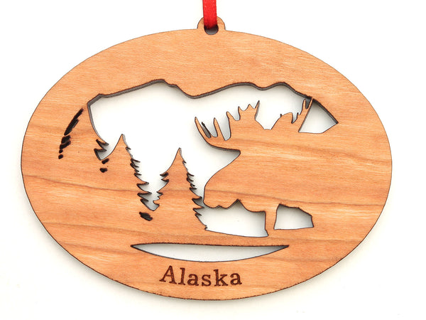 Alaska Moose Northwoods Ornament Alt