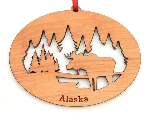 Alaska Moose Northwoods Ornament