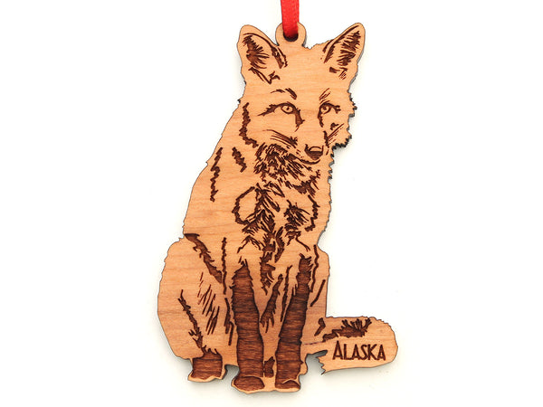 Alaska Red Fox Ornament