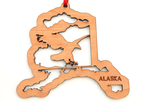 Alaska State Bald Eagle Insert Ornament