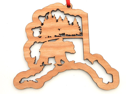 Alaska State Grizzly Bear  Insert Ornament