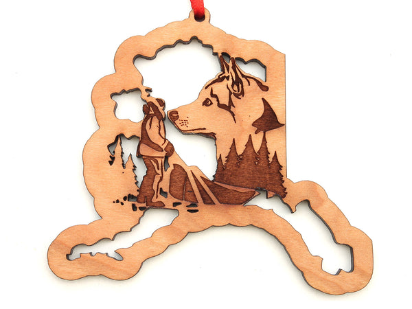 Alaska State Dogsled Husky Ornament