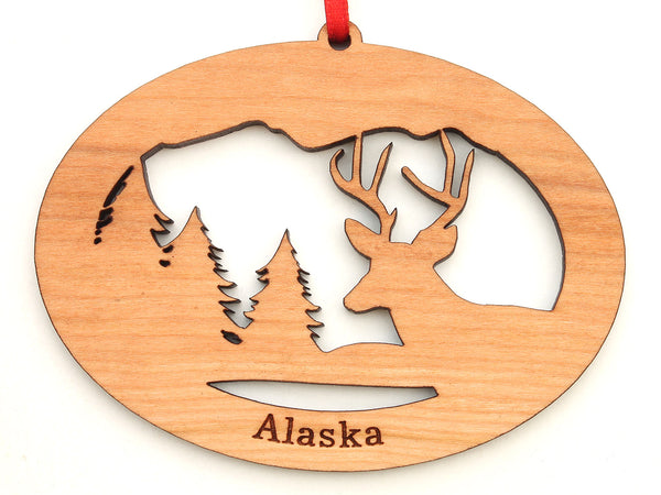 Alaska White-tailed Deer Northwoods Ornament