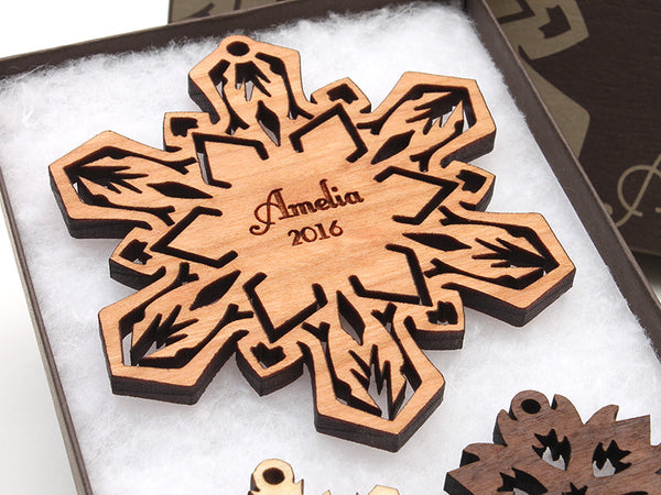 New 2016 Snowflake Custom Christmas Ornament - Nestled Pines - 1