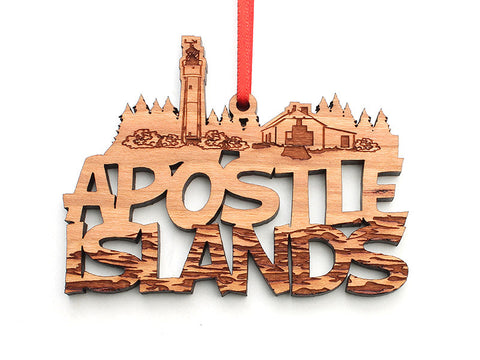 Apostle Island NLS Text Ornament ALT - Nestled Pines