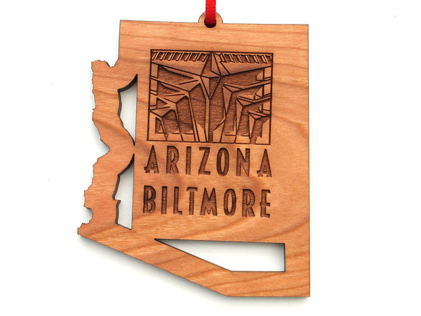 KSL Resorts Arizona Biltmore State Cut Out Ornament