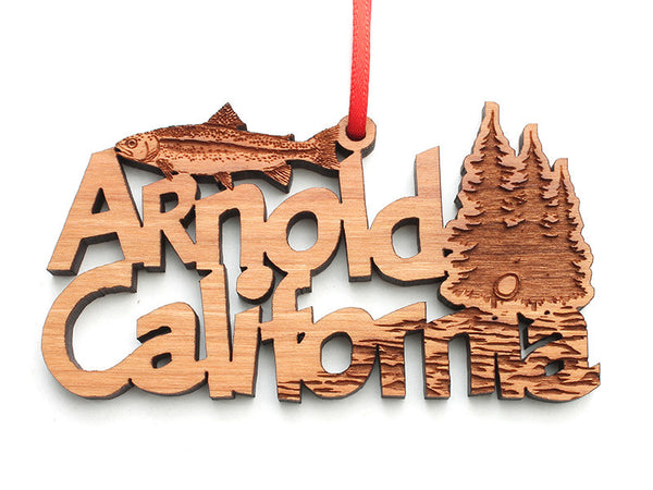 Arnold CA Custom Text Ornament - Nestled Pines