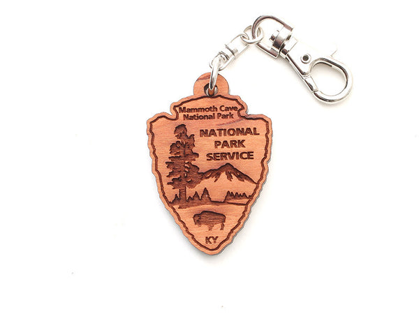 Mammoth Cave NPS Arrowhead Key Chain - Nestled Pines