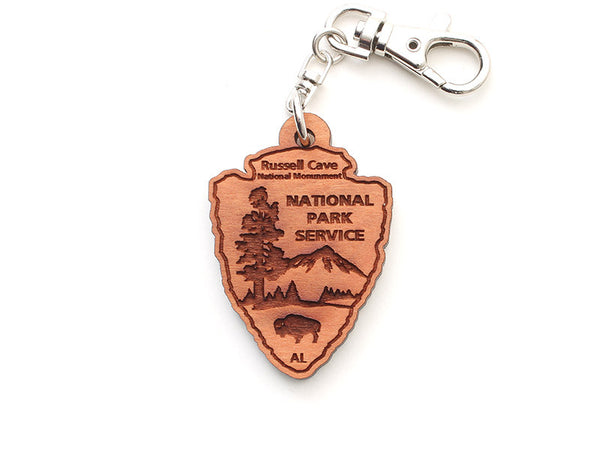 Russell Cave NPS Arrowhead Key Chain - Nestled Pines