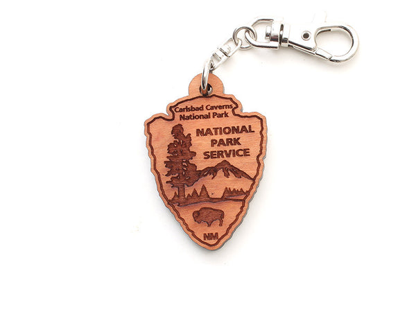Carlsbad Caverns NPS Arrowhead Key Chain - Nestled Pines