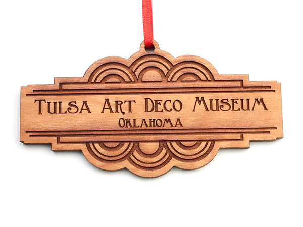Tulsa Art Deco Museum Oklahoma Custom Ornament - Nestled Pines