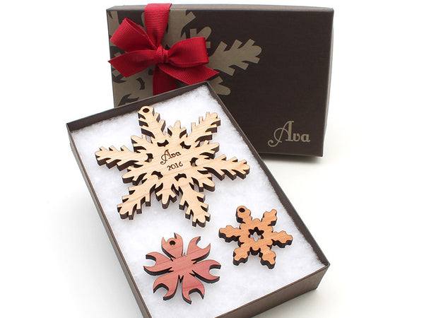 Custom Snowflake Christmas Ornament - New 2016 - Nestled Pines - 3