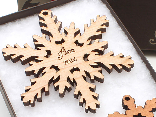 Custom Snowflake Christmas Ornament - New 2016 - Nestled Pines - 1
