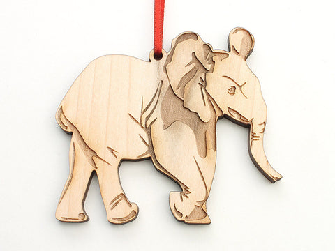 African Elephant Calf Ornament - Nestled Pines