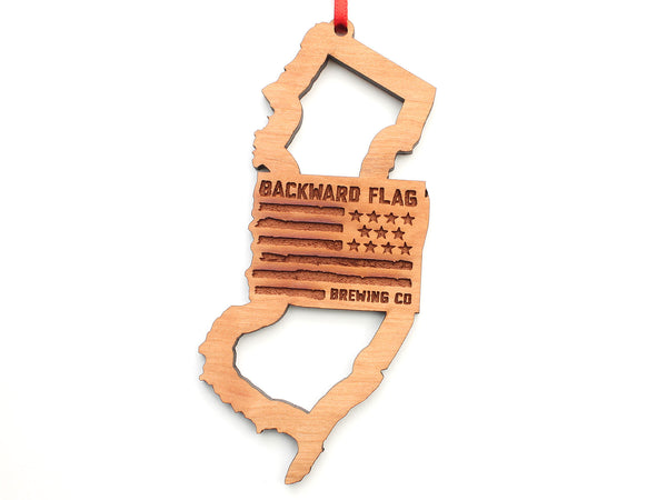 Backward Flag Brewing Co NJ Logo Insert Ornament