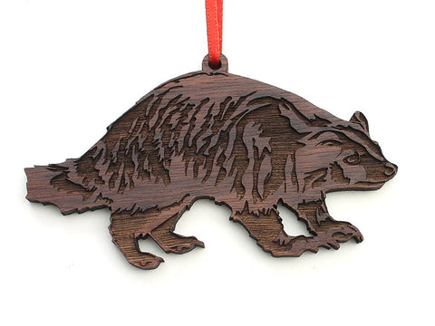 Badger Ornament - Nestled Pines