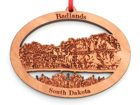 Badlands Rock Formation Oval Ornament