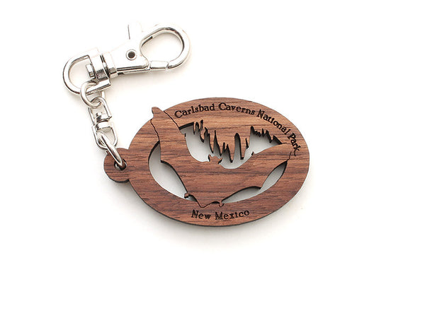 Carlsbad Caverns NP Bat Key Chain - Nestled Pines