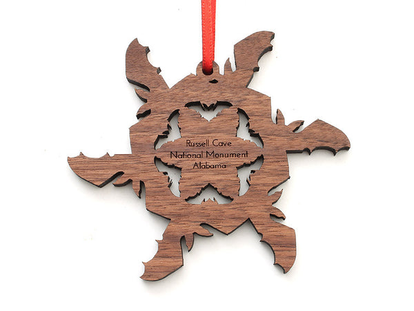 Russell Cave NM Bat Flake Ornament - Nestled Pines