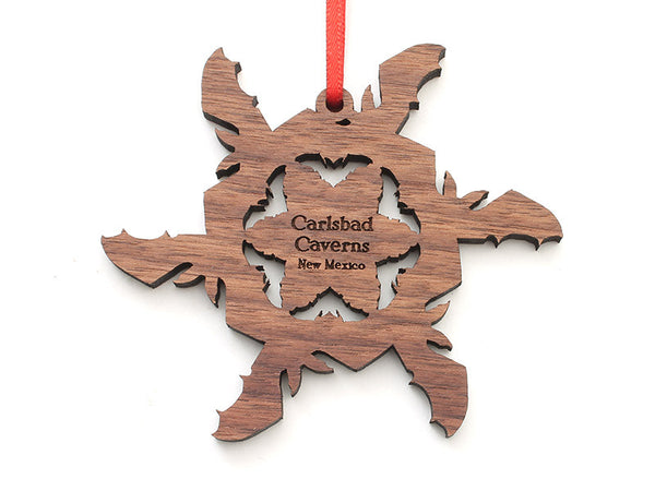 Carlsbad Caverns Bat Flake Ornament - Nestled Pines