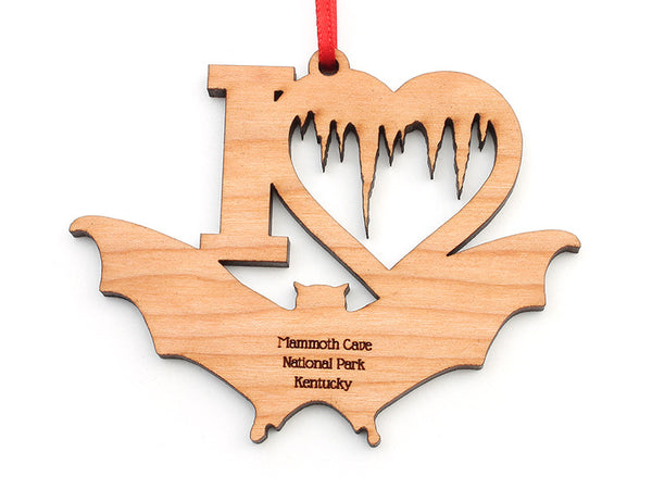 Mammoth Cave Heart Bat Ornament - Nestled Pines