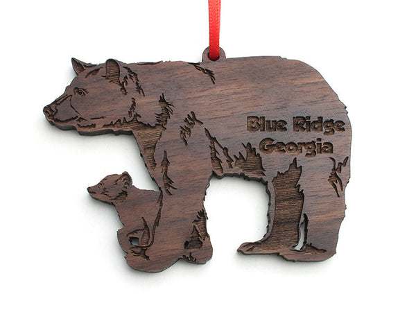 Blue Ridge Black Bear with Cub Ornament - Nestled Pines