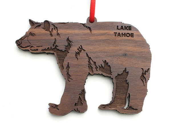 Zephyr Cove Resort Black Bear Ornament - Nestled Pines
