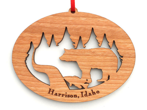 Birds Nest Harrison Bear Alt Custom Ornament