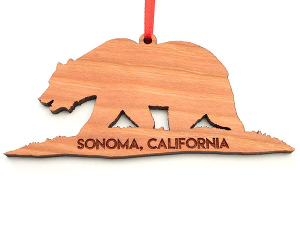 Solano Mission California Bear Ornament