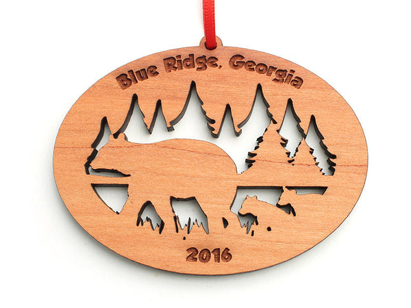 Blue Ridge Bear with Cubs Ornament - Nestled Pines
