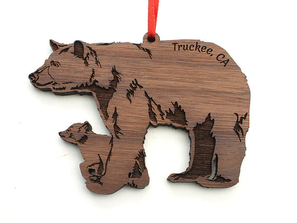 Truckee CA Bear Ornament - Nestled Pines